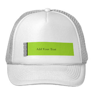 Damask Delight in Lime Green Trucker Hat
