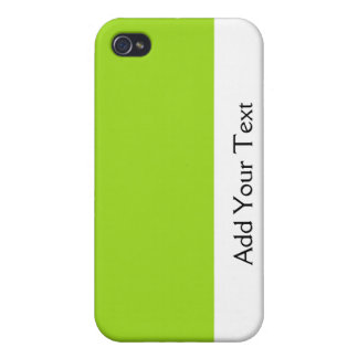 Damask Delight in Lime Green iPhone 4 Cover