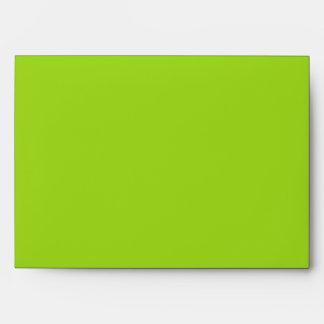 Damask Delight in Lime Green Wedding Envelope