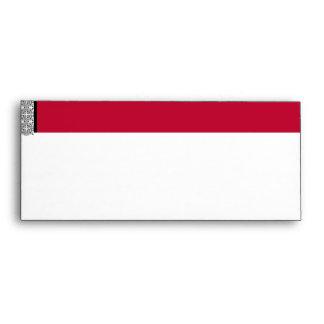 Damask Delight in Scarlet Red Envelope
