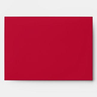 Damask Delight in Scarlet Red Wedding Envelope