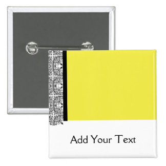 Damask Delight in Yellow Button
