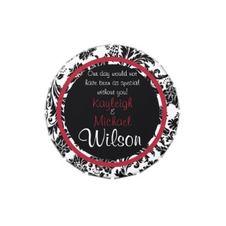 Damask Delight Wedding Favors Candy Tin
