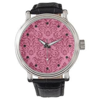Damask Deluxe (pink fuschia) Wristwatch