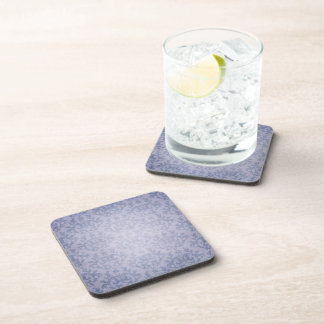 Damask denim blue Kangaroo Paws set of 6 coasters