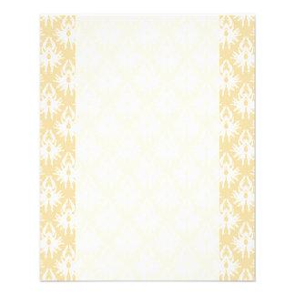 Damask Design. White and gold color. Flyer