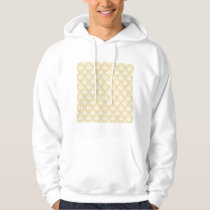 Damask Design. White and gold color. Hoodie