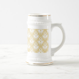 Damask Design. White and gold color. Mugs