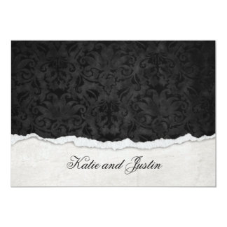 Damask design with torn edge card