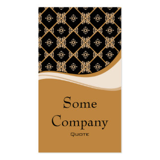 Damask Diamond Swirl (Hot Cocoa) Double-Sided Standard Business Cards (Pack Of 100)