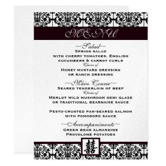 Damask double happiness menu card