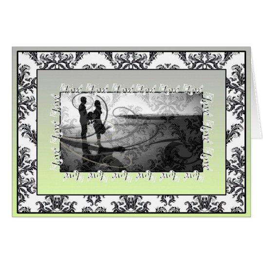 Damask Dreams Deluxe Wedding Invitation - fern