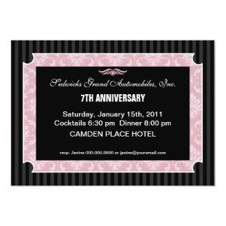 Damask Elegance Anniversary Invitations