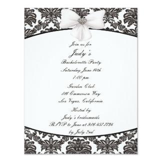 Damask Elegance Bachelorette Party Invitation
