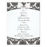 "Damask Elegance Bachelorette Party Invitation 4.25"" X 5.5"" Invitation Card"