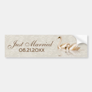 Damask Elegance Bumper Sticker