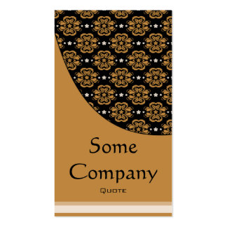 Damask Elegance (Hot Cocoa) Double-Sided Standard Business Cards (Pack Of 100)