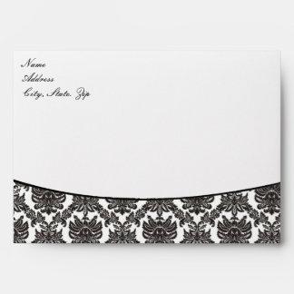 Damask Elegance Wedding Envelopes
