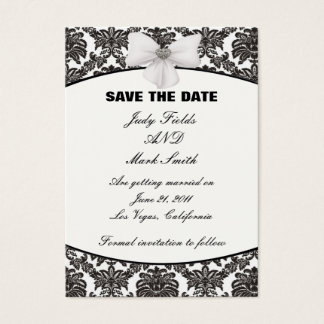 Damask Elegance Wedding Save The Date Cards