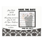Damask Elegance Wedding Save The Date Postcard