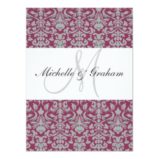 Damask Elegant Wedding 6.5x8.75 Paper Invitation Card
