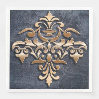 damask element paper dinner napkin