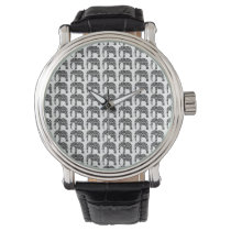 Damask Elephant Pattern Watch