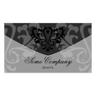 Damask Envelope (Black And White) Double-Sided Standard Business Cards (Pack Of 100)