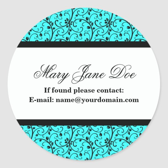 Damask Ex Libris Personalized Library Labels