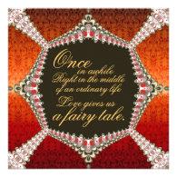 Damask Fairytale Lacy Wedding Invitation