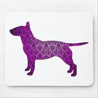 Damask Fancy Bull Terrier Mouse Pad