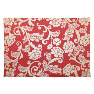 Damask floral background pattern placemat
