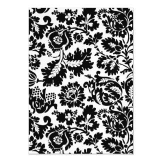 Damask Floral Black and Whtie Magnetic Card