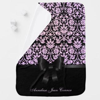 Damask Floral Design Pattern Receiving Blanket