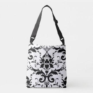 Damask floral pattern crossbody bag