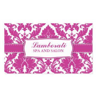 Damask Floral Pattern Elegant Fashion Designer Business Card