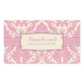 Damask Floral Pattern Elegant Fashion Designer Double-Sided Standard Business Cards (Pack Of 100)