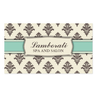 Damask Floral Pattern Elegant Modern Classy Retro Double-Sided Standard Business Cards (Pack Of 100)