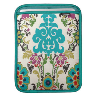 Damask Floral Patterns Plum Turquoise Sleeve For iPads
