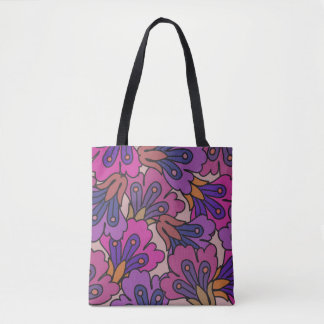 Damask floral tote