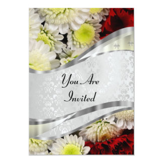 Damask & flowers card
