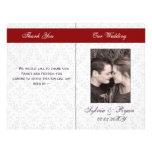 Damask Folding Photo wedding programs Custom Flyer