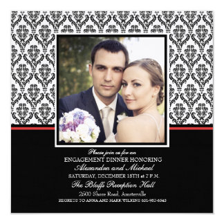 Damask Formal Photo Invitation