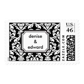 damask-frame-monogram stamp