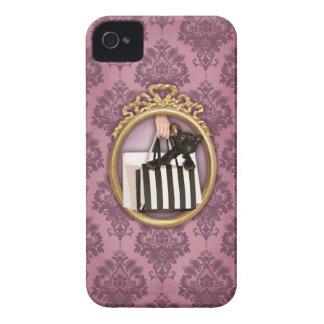 Damask French Bulldog iPhone 4 Case-Mate Case