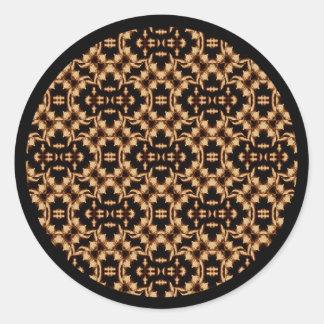 Damask French Lace Classic Round Sticker