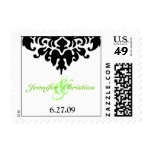 damask full, 6.27.09, &,  Jennifer  Christian Postage Stamps