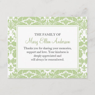 funeral thank you cards zazzle