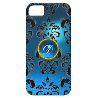 DAMASK GEM MONOGRAM blue iPhone SE/5/5s Case