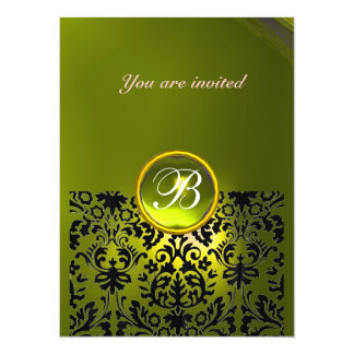 DAMASK GEM STONE MONOGRAM topaz yellow Card